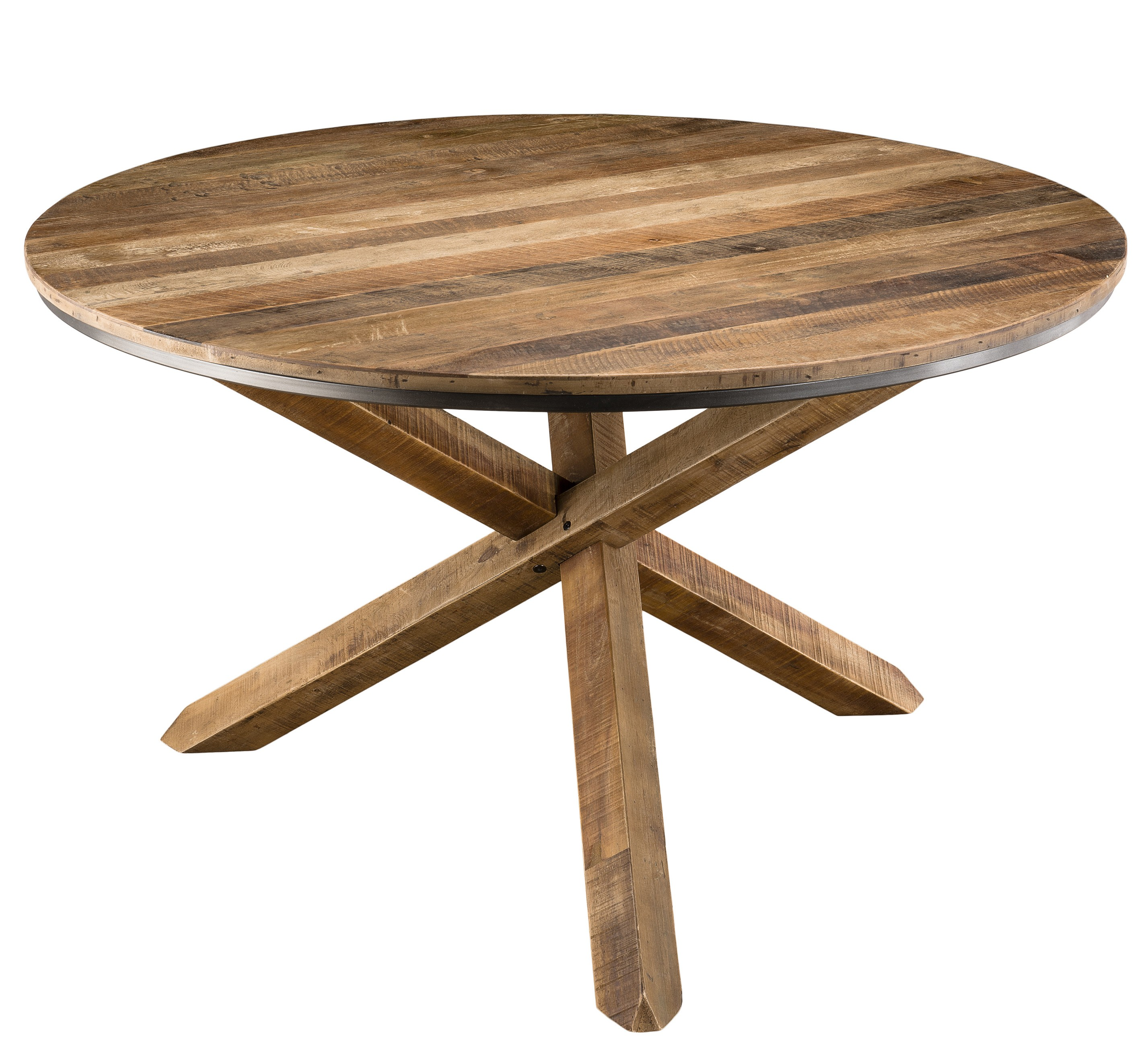 table manger ronde acacia massif fonc panka. Black Bedroom Furniture Sets. Home Design Ideas
