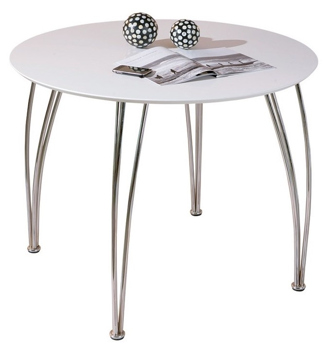 Table ronde blanche mody - Table cuisine ronde blanche ...