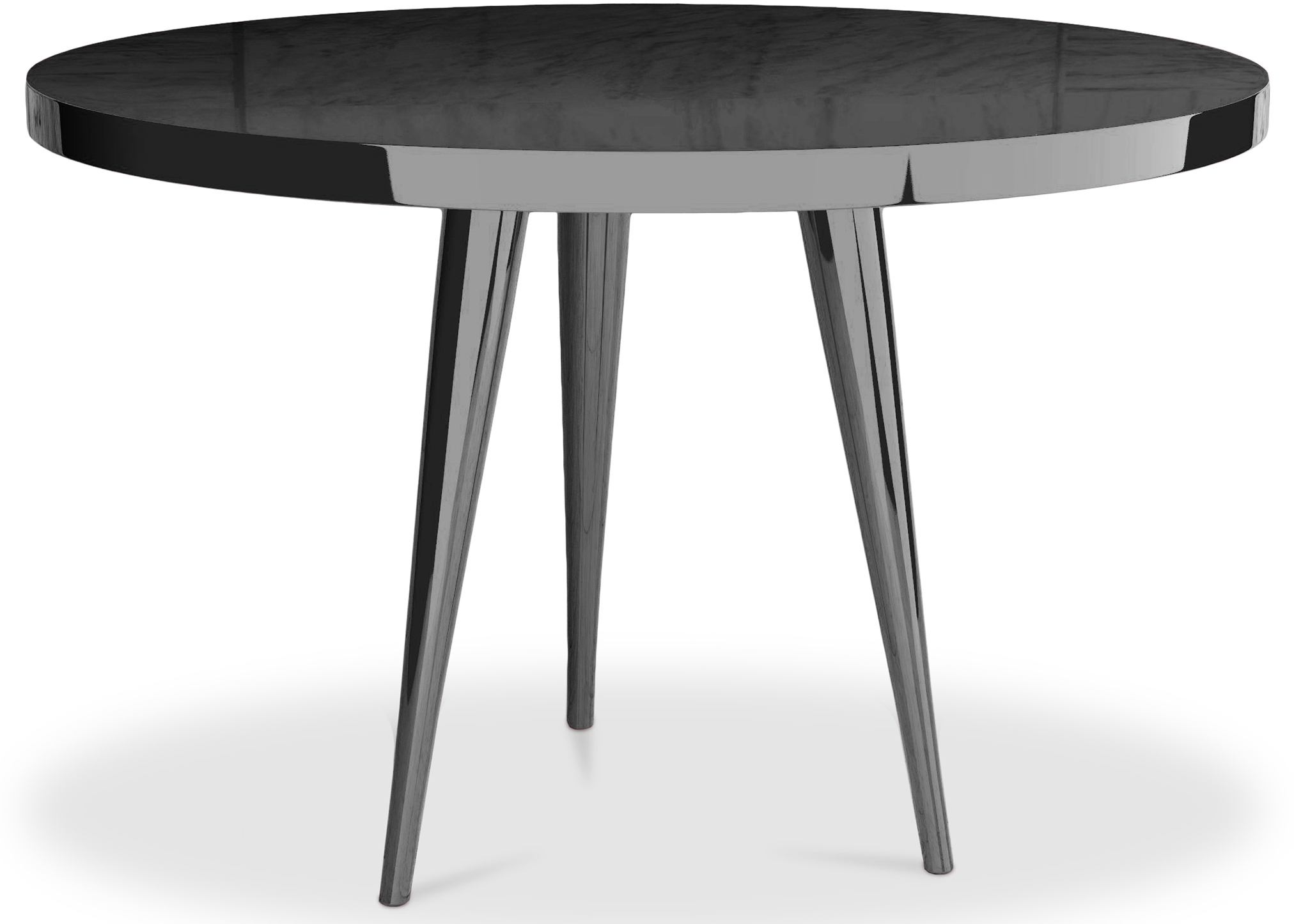 Table ronde haute qualit laqu noir kare - Table a manger noire ...