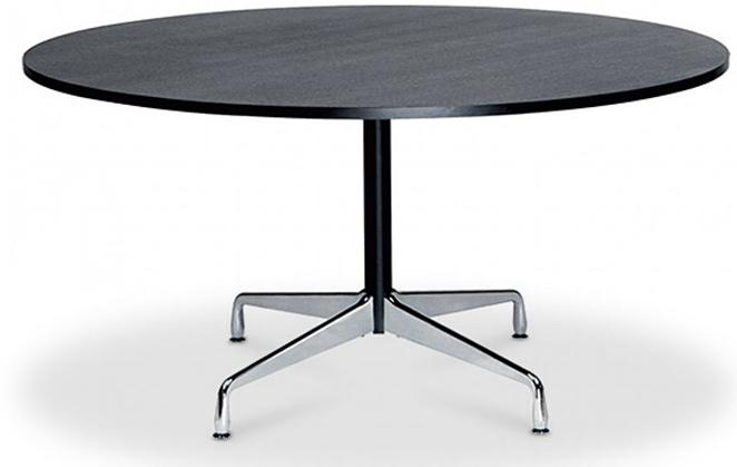table ronde noir inspiré contract charles eames - lestendances.fr