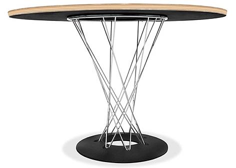 table ronde bois noir et m tal balancia. Black Bedroom Furniture Sets. Home Design Ideas