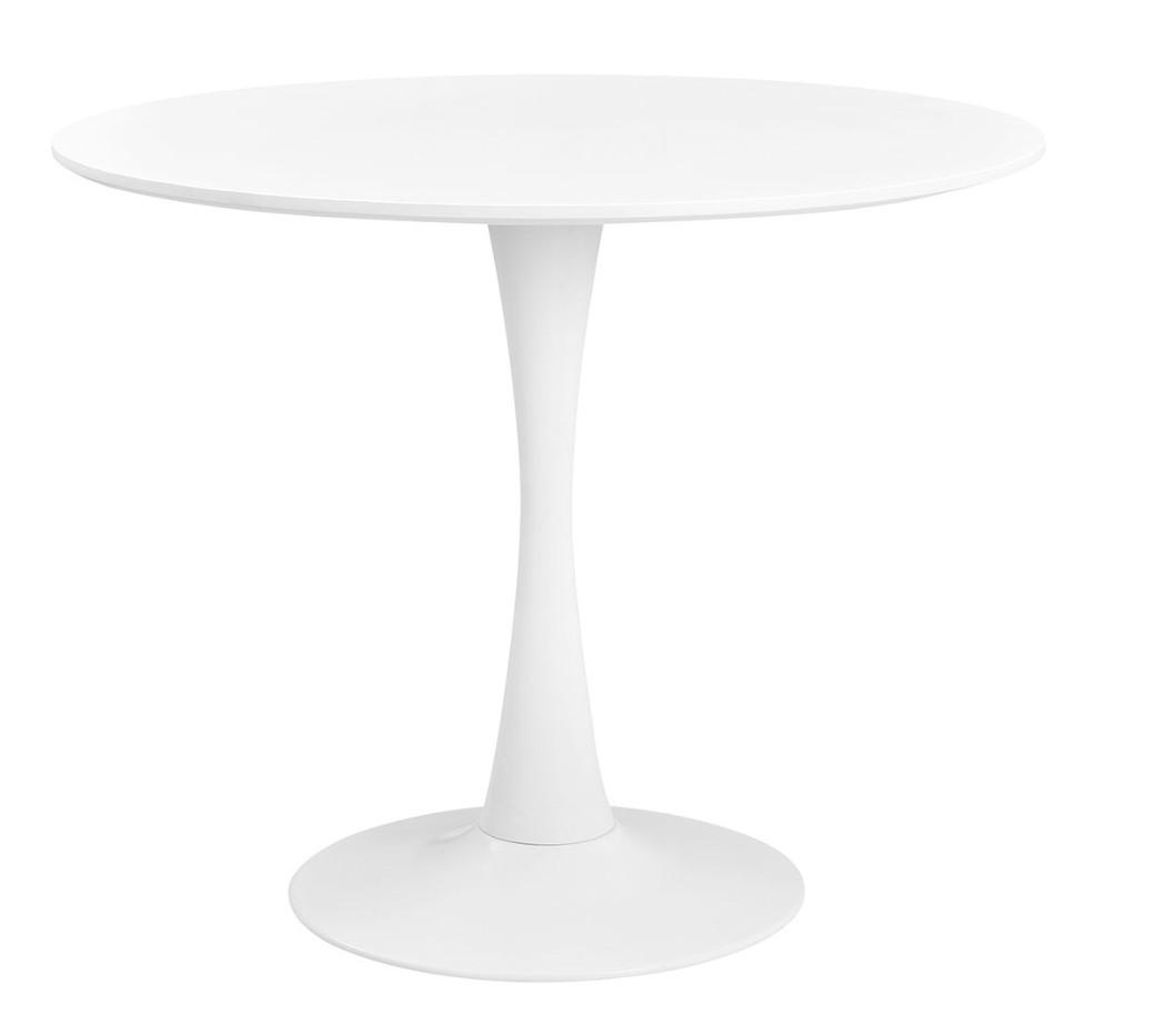table ronde tulipe blanche 90 inspir e saarinen round. Black Bedroom Furniture Sets. Home Design Ideas