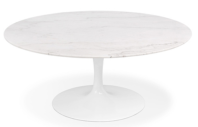 Table ronde tulipe marbre 120 cm for Table de sejour ronde