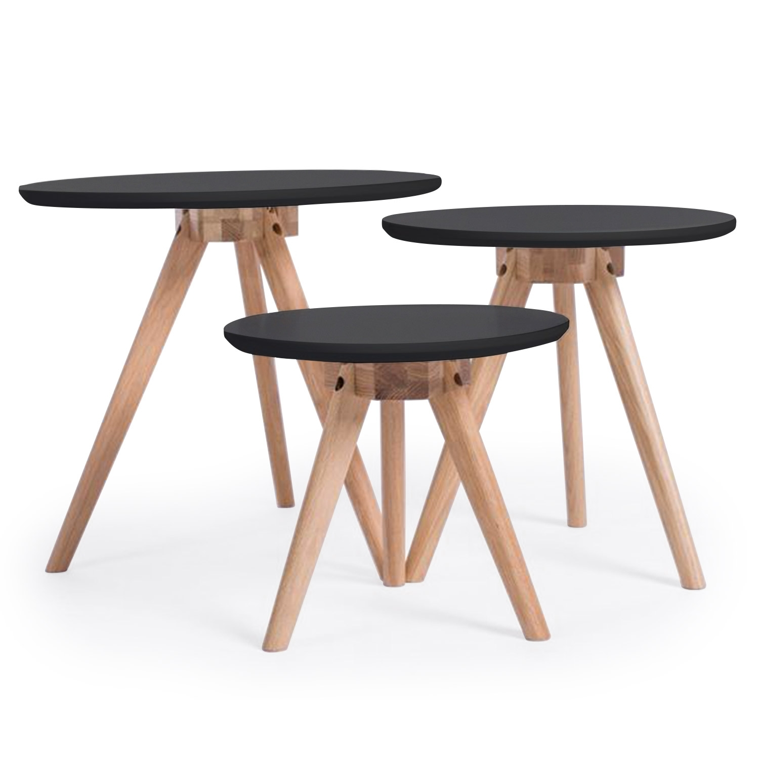 Table basse ronde noir trina Table basse ronde scandinave