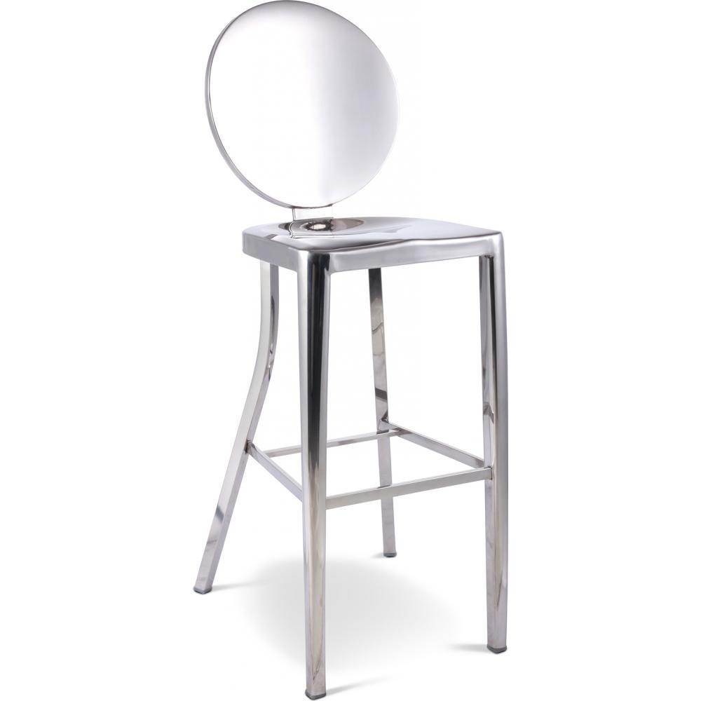 tabouret aluminium assise 76 inspir philippe. Black Bedroom Furniture Sets. Home Design Ideas