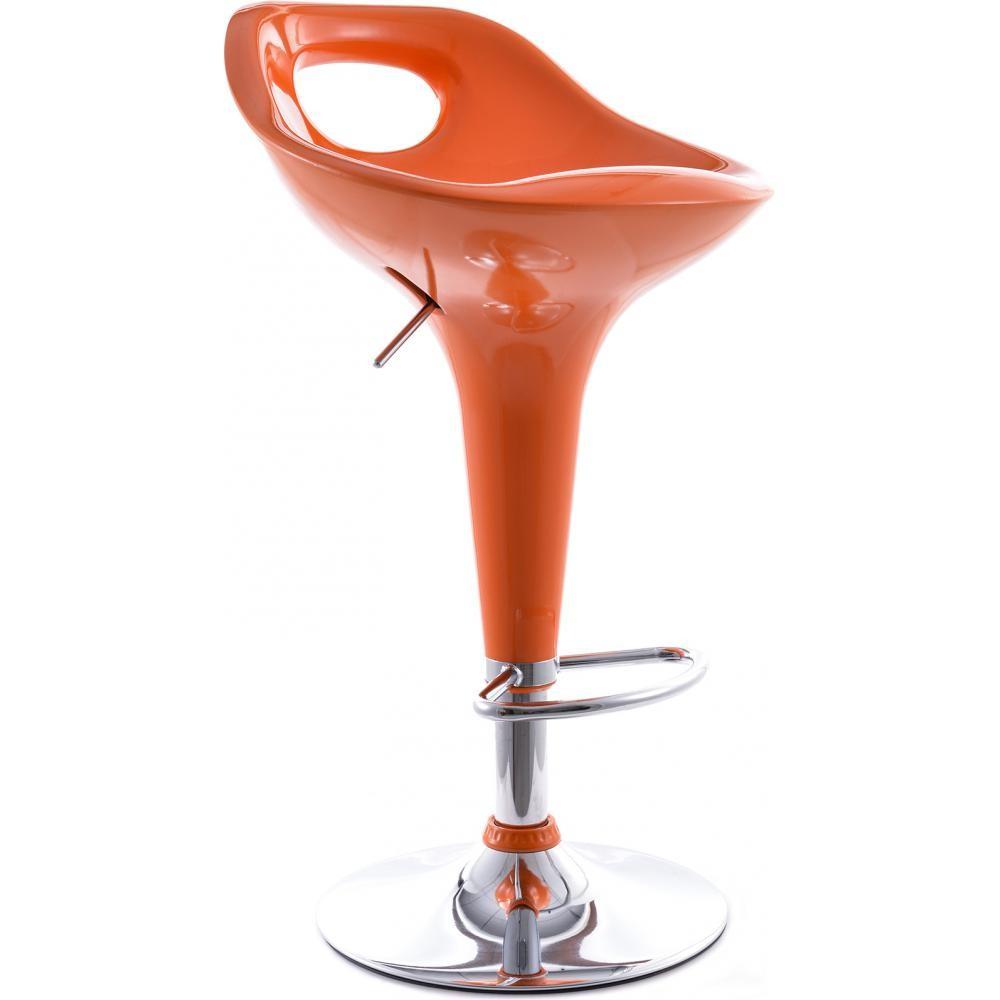 tabouret bar pivotant orange poopy lestendancesfr - Tabouret Bar Orange