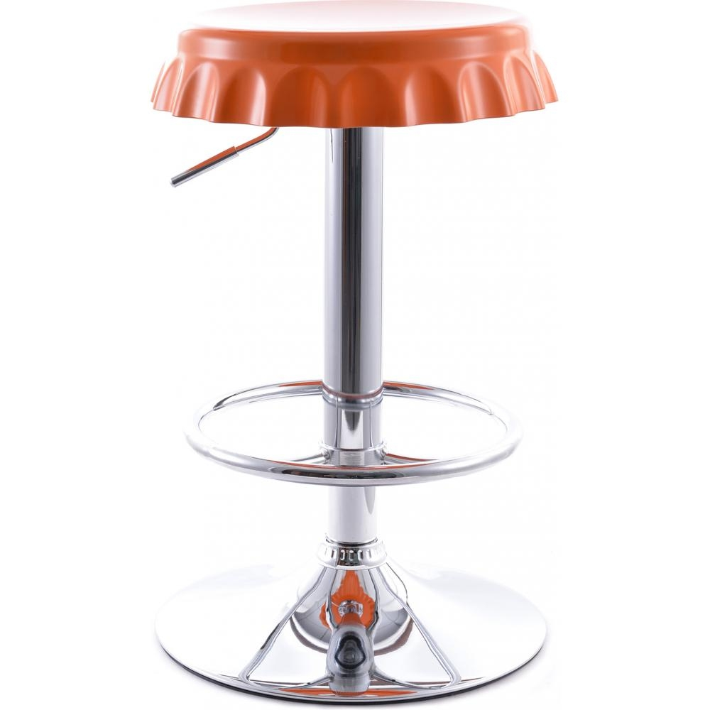 Tabouret de bar capsule orange for Tabouret cuisine reglable hauteur