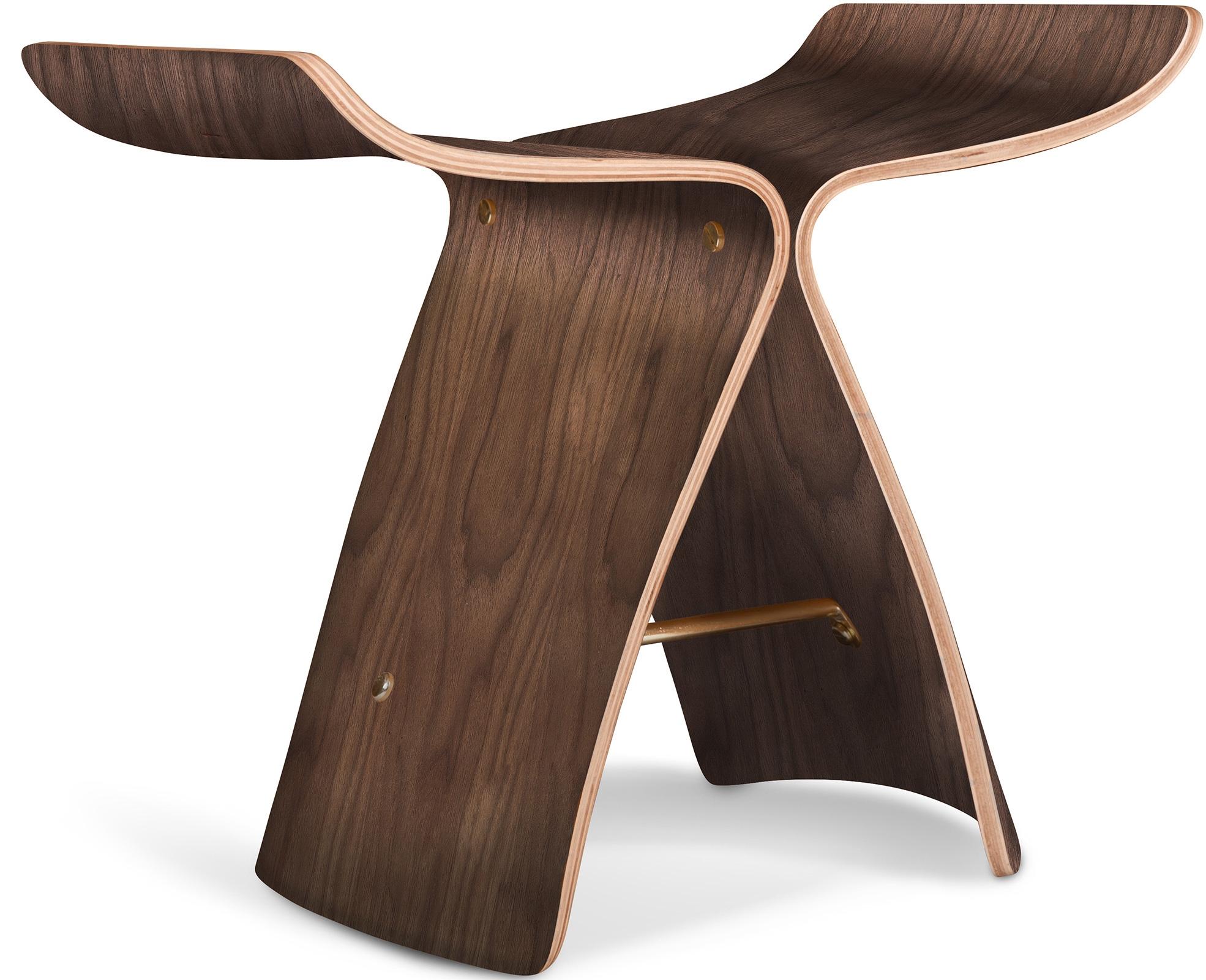 Tabouret en bois fonc ceres - Tabouret en bois reglable en hauteur ...