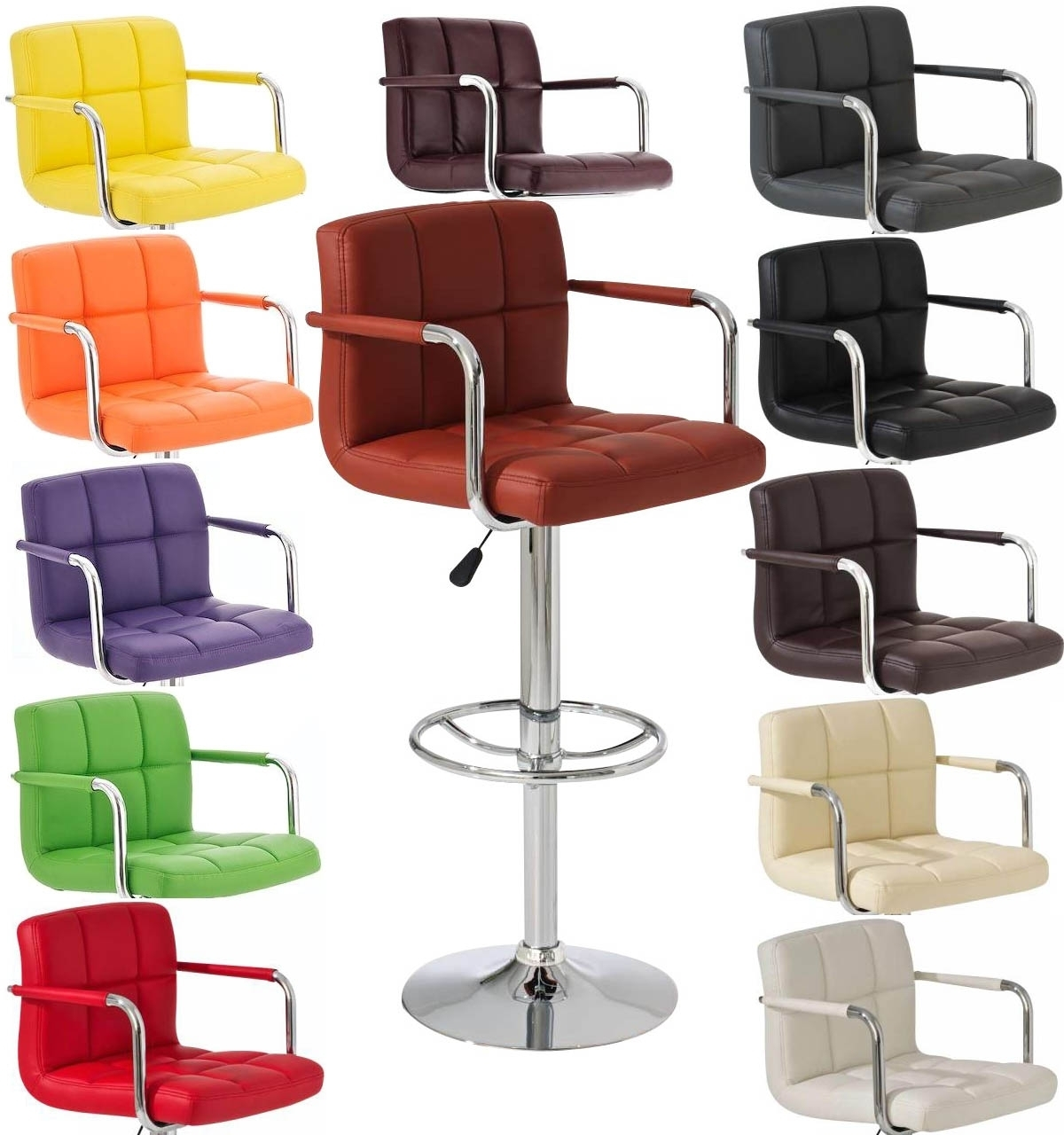 Tabouret fauteuil de bar willord - Tabouret de bar couleur ...