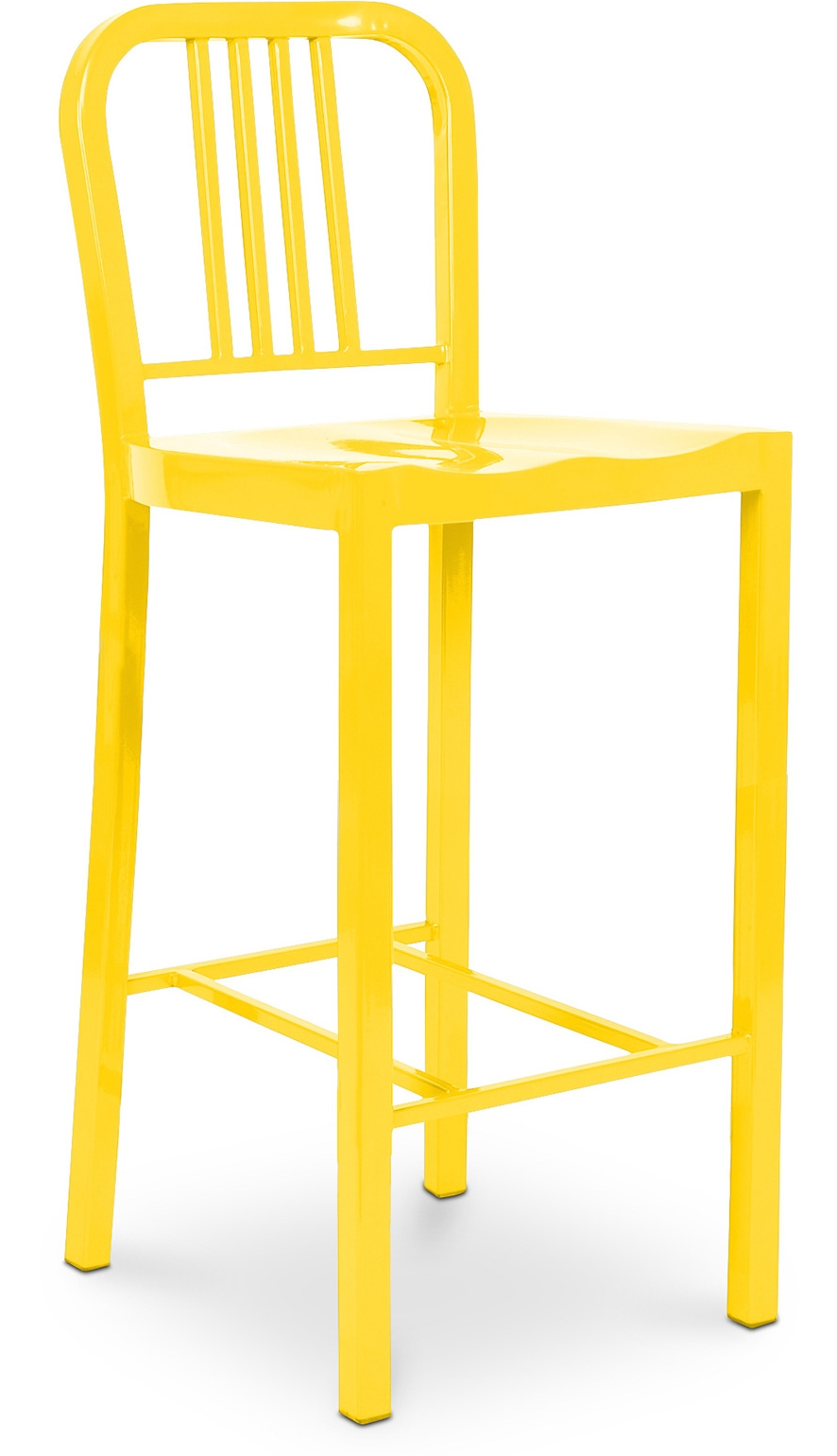 tabouret m tal jaune navy h 75 cm. Black Bedroom Furniture Sets. Home Design Ideas