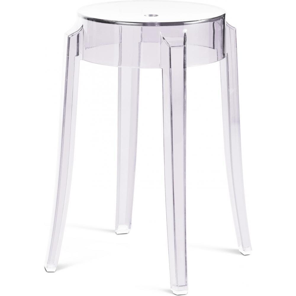 tabouret polycarbonate transparent elisabeth 47 cm. Black Bedroom Furniture Sets. Home Design Ideas