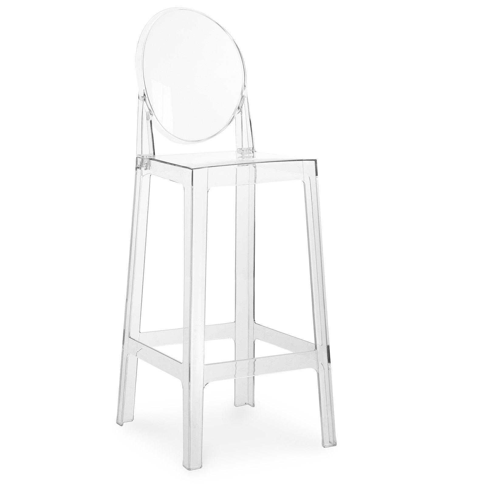 tabouret polycarbonate transparent inspir ghost 75 cm. Black Bedroom Furniture Sets. Home Design Ideas