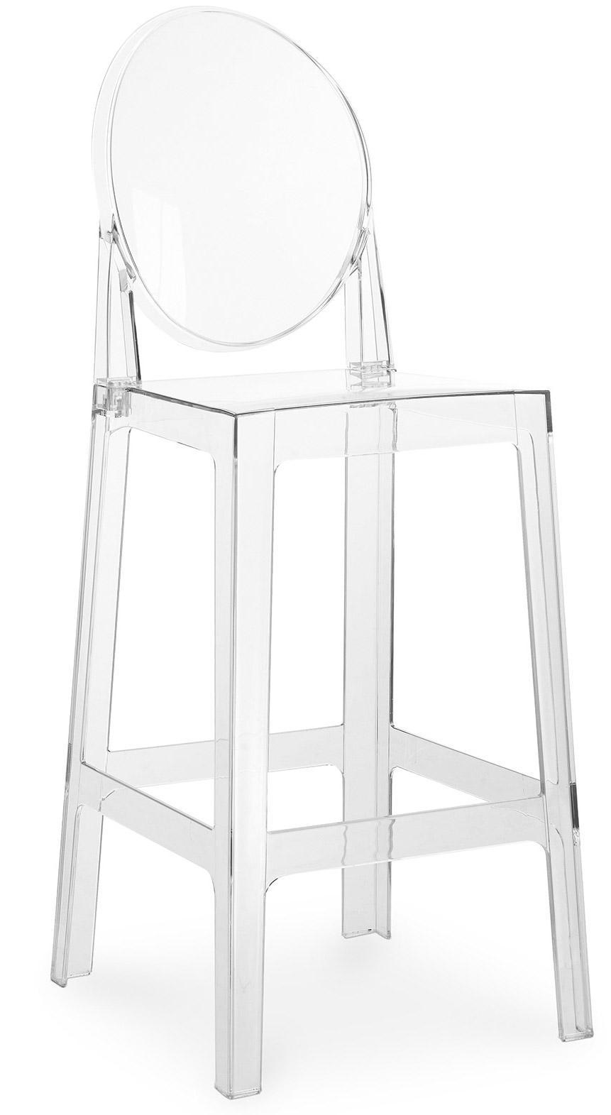 tabouret polycarbonate transparent inspir louis ghost 64. Black Bedroom Furniture Sets. Home Design Ideas