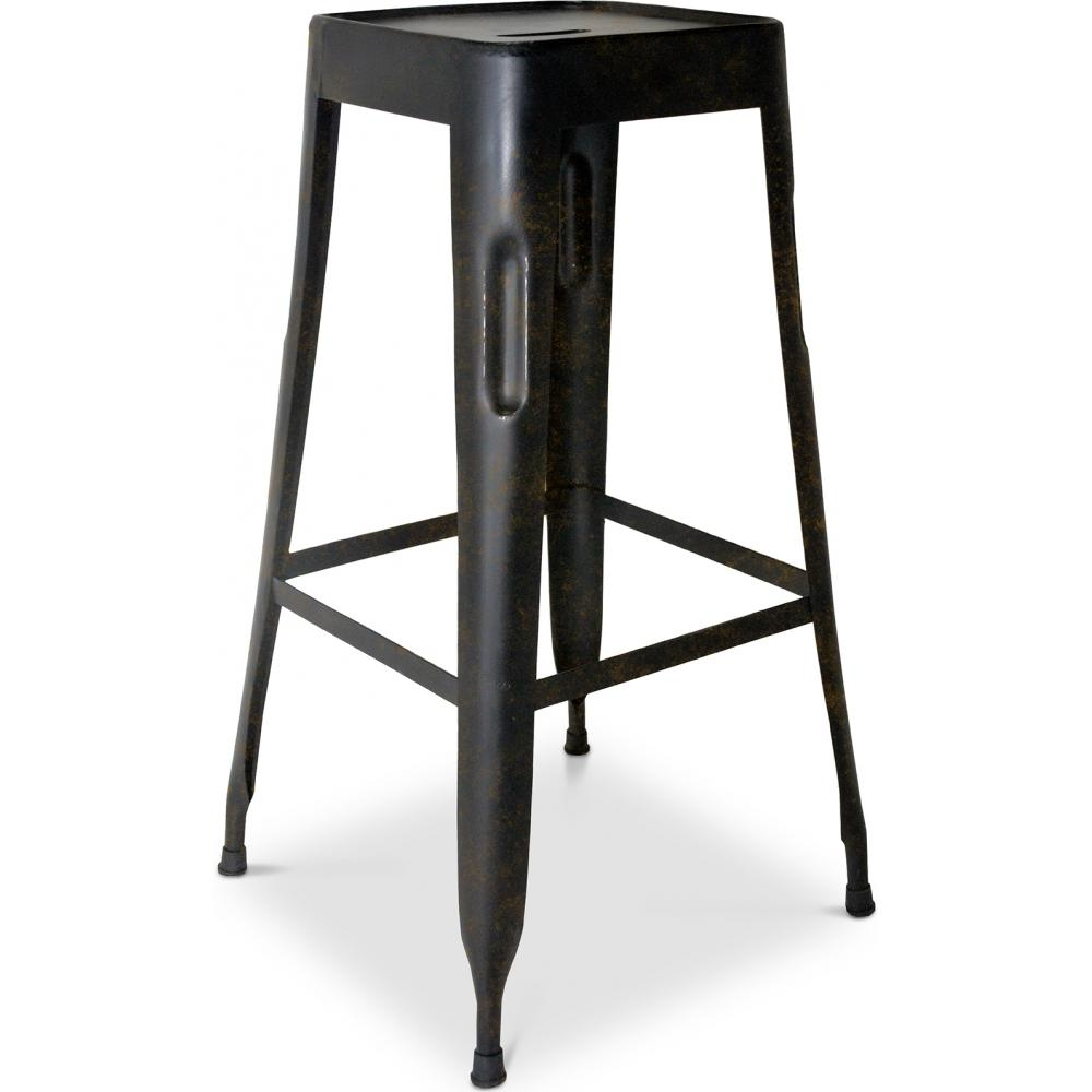 tabouret de bar acier mutipli h 75. Black Bedroom Furniture Sets. Home Design Ideas