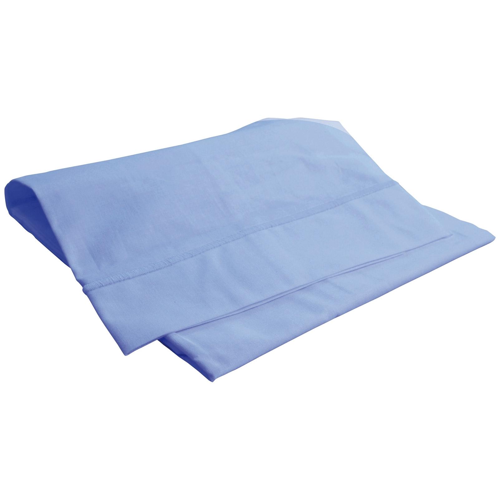 Taie d 39 oreiller bleu ciel doux nid - Ciel de lit bleu ...