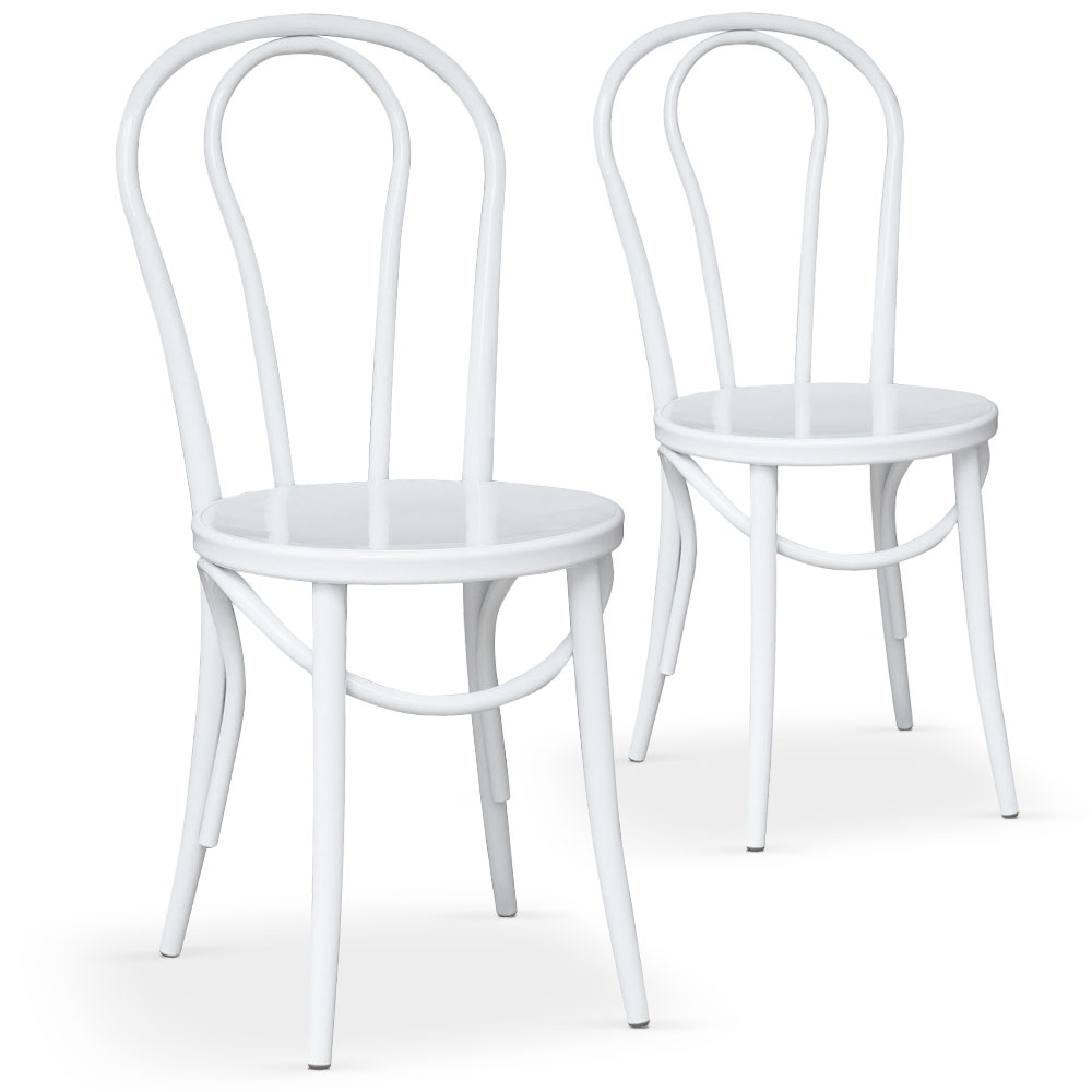 Chaises bistrot blanche coste for Chaise bistrot but
