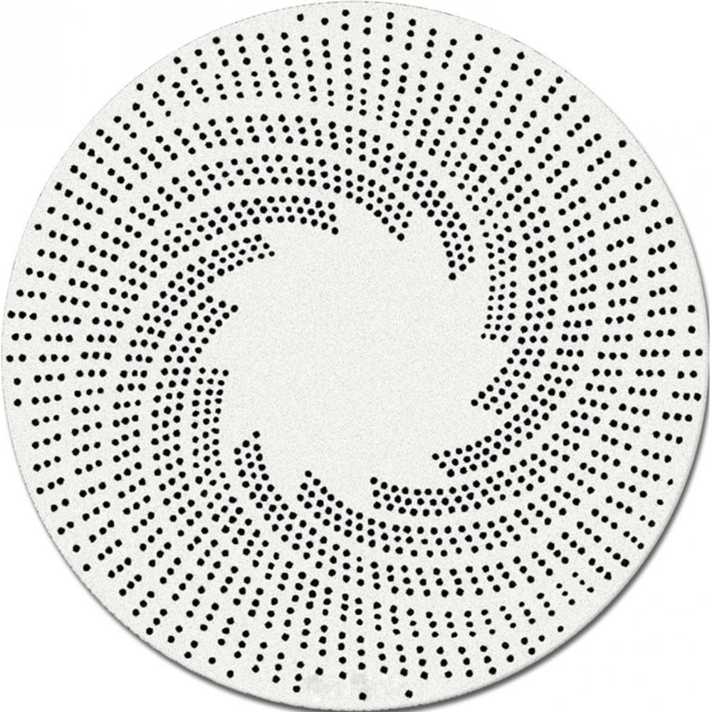 tapis rond laine blanc et noir rug round xl d 300 cm. Black Bedroom Furniture Sets. Home Design Ideas