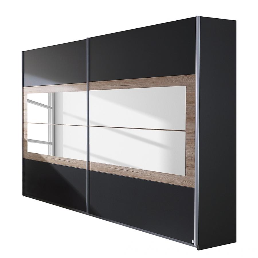 Les tendances armoire contemporaine 2 portes coulissantes gris ch ne clair - Armoire contemporaine portes coulissantes ...