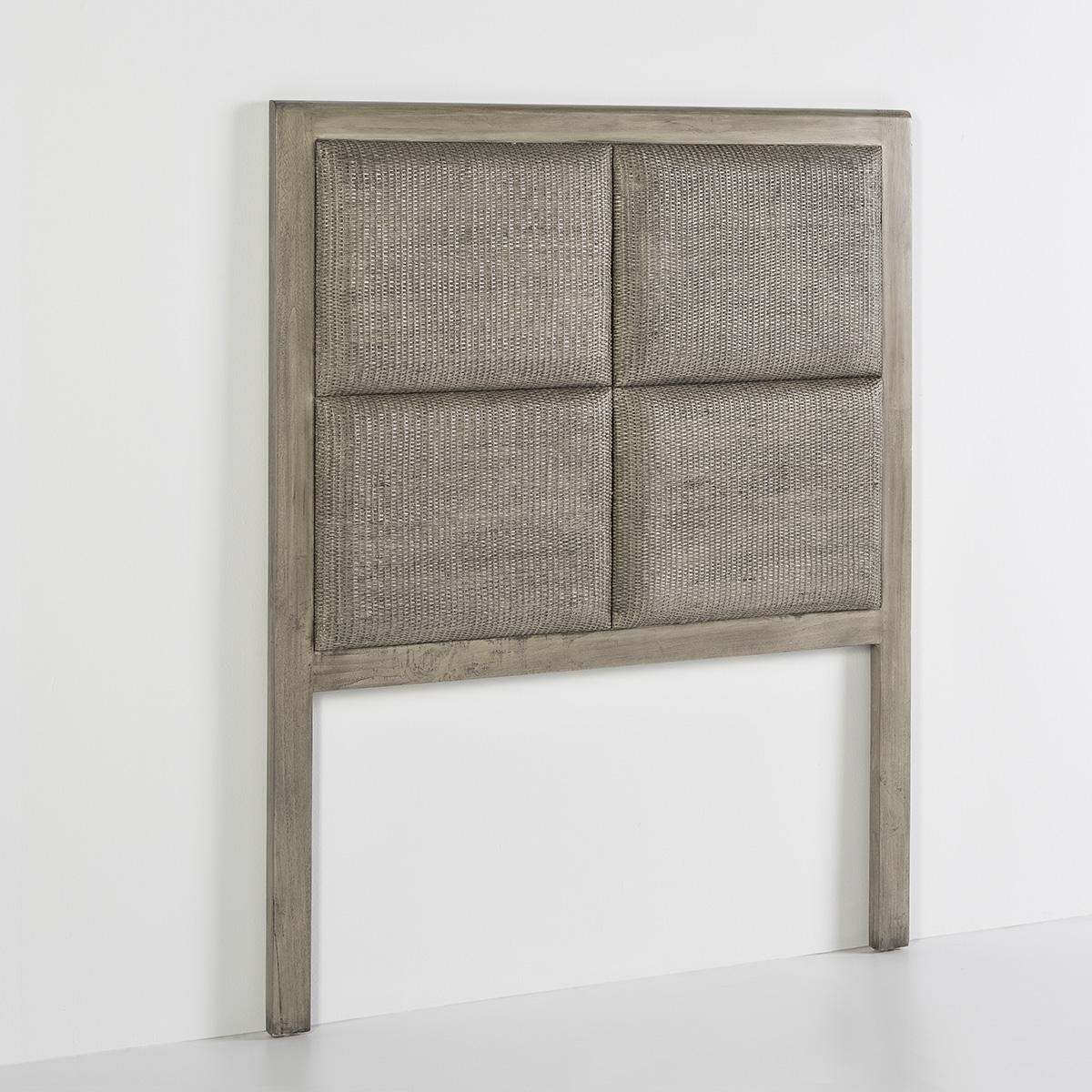 Tete De Lit Voile tête de lit bois massif grisé et finition voilée gery 110