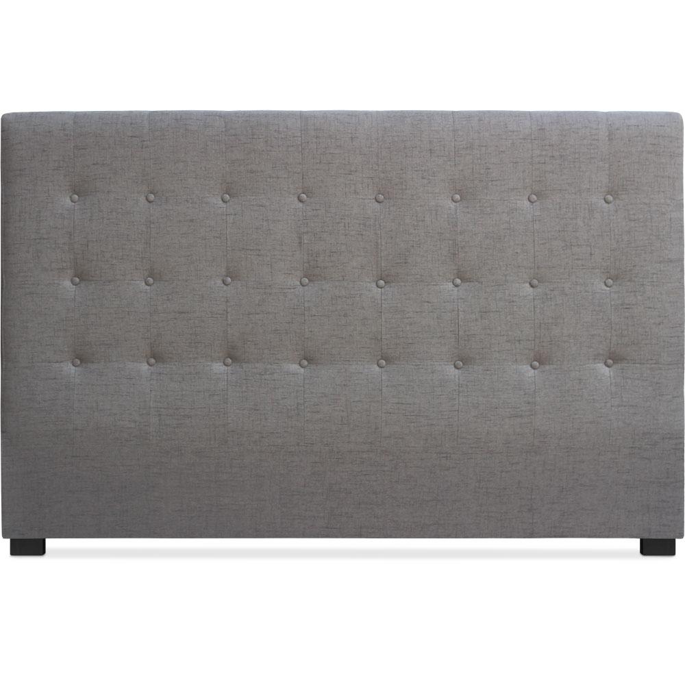 T te de lit capitonn e tissu taupe 180 luxa - Tissu pour tete de lit ...
