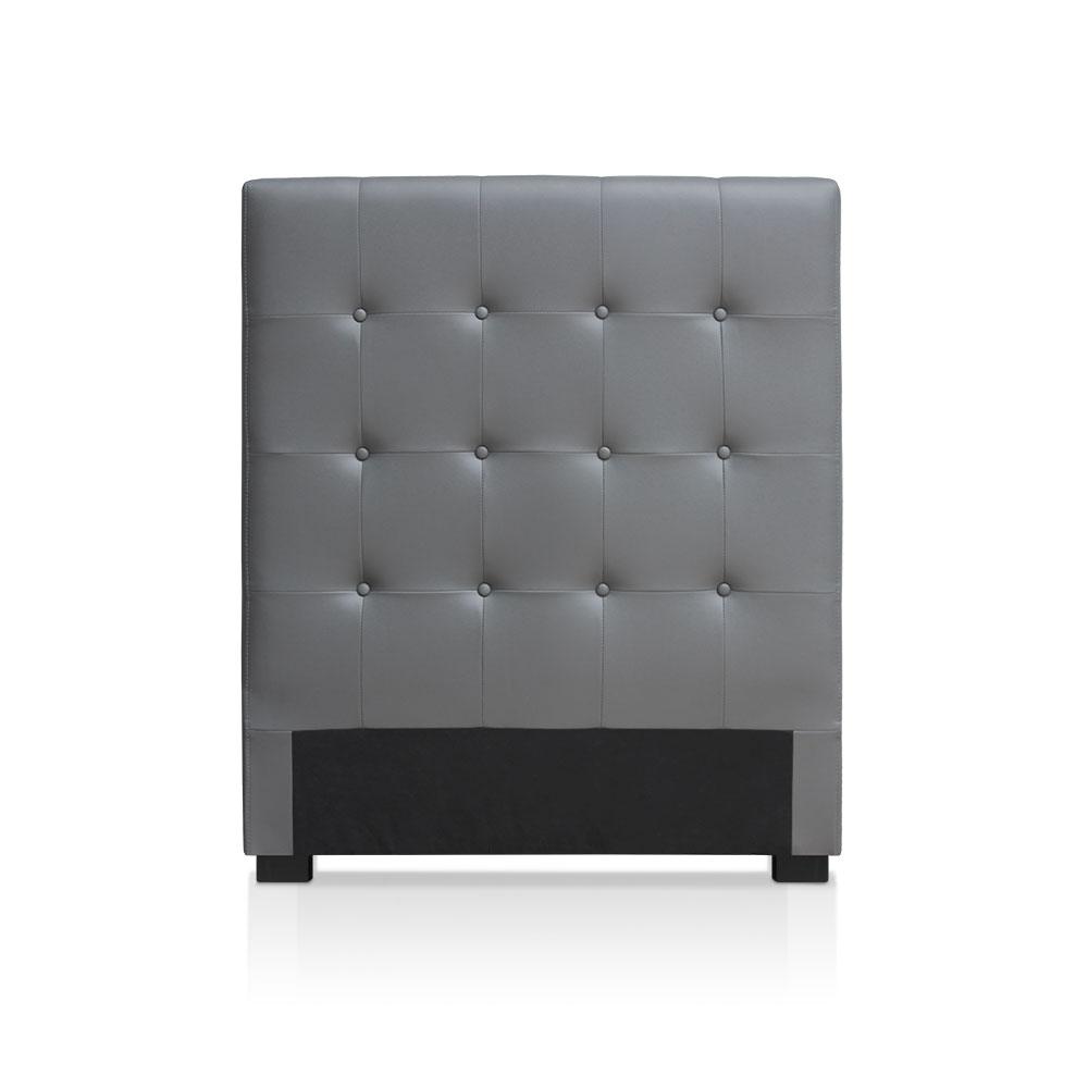 les tendances t te de lit luxor 90cm gris. Black Bedroom Furniture Sets. Home Design Ideas