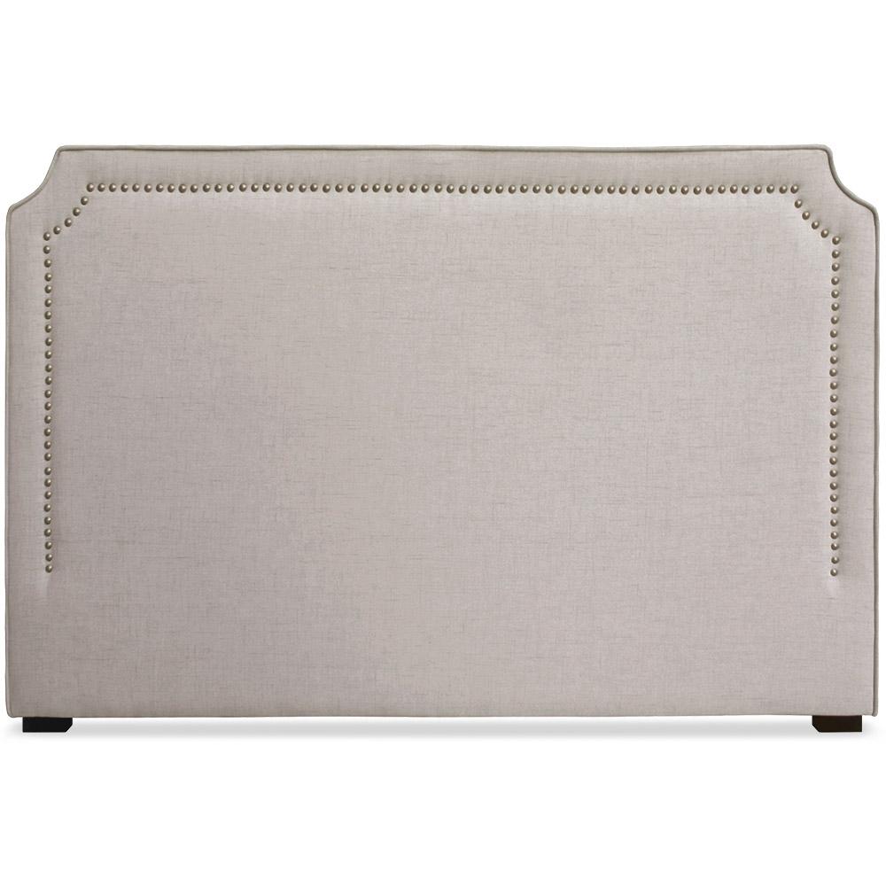 t te de lit 180cm tissu beige milan. Black Bedroom Furniture Sets. Home Design Ideas