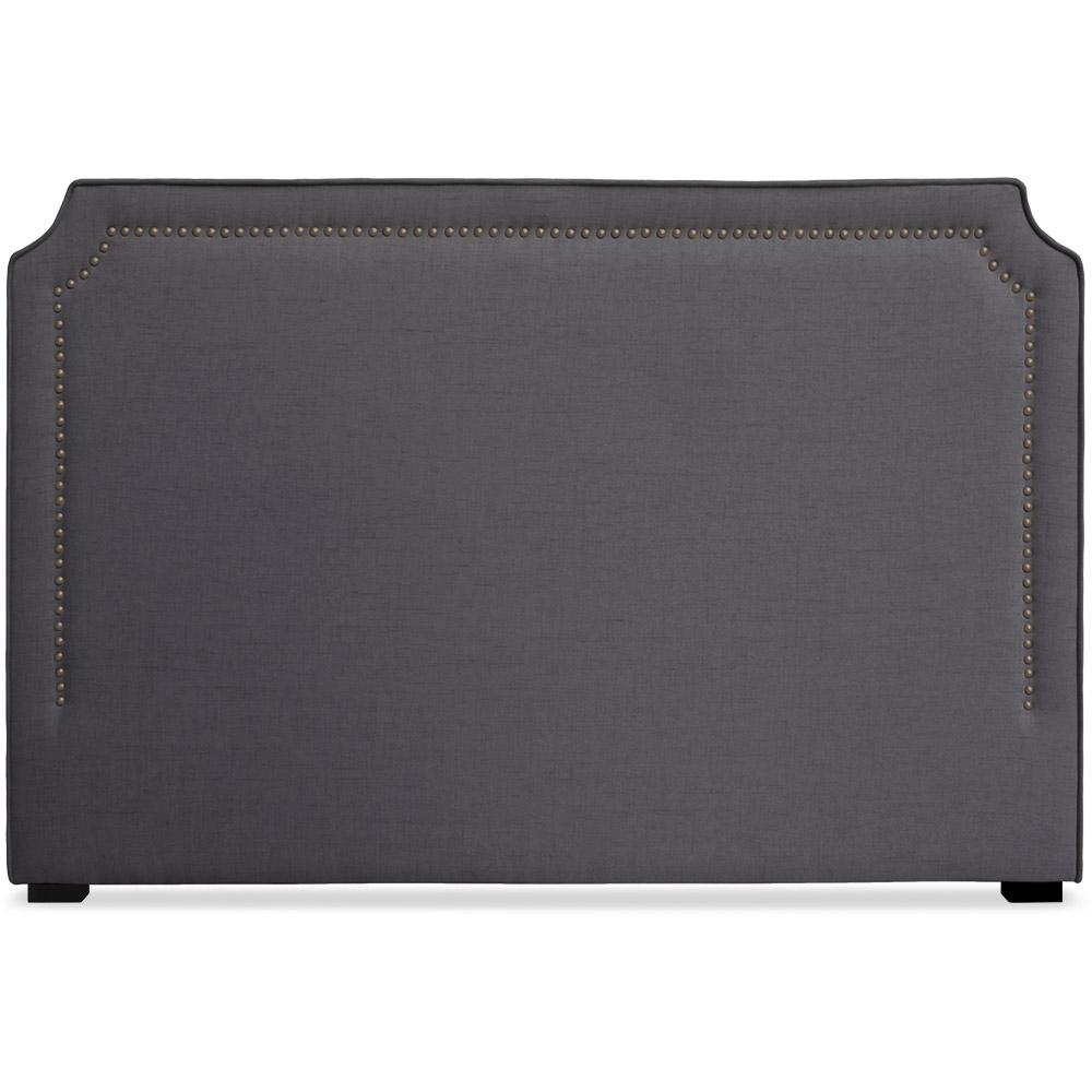 T te de lit 180cm tissu gris milan - Tissu pour tete de lit ...