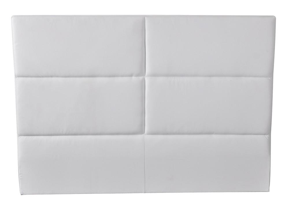 tête de lit simili blanc pour lit 140 et 160 hotel - lestendances.fr