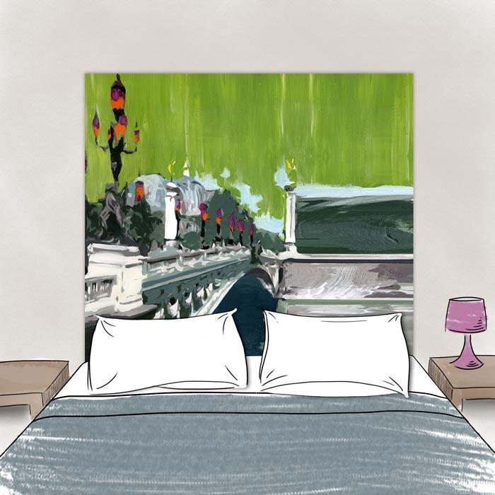 t te de lit tissu pont alexandre iii. Black Bedroom Furniture Sets. Home Design Ideas