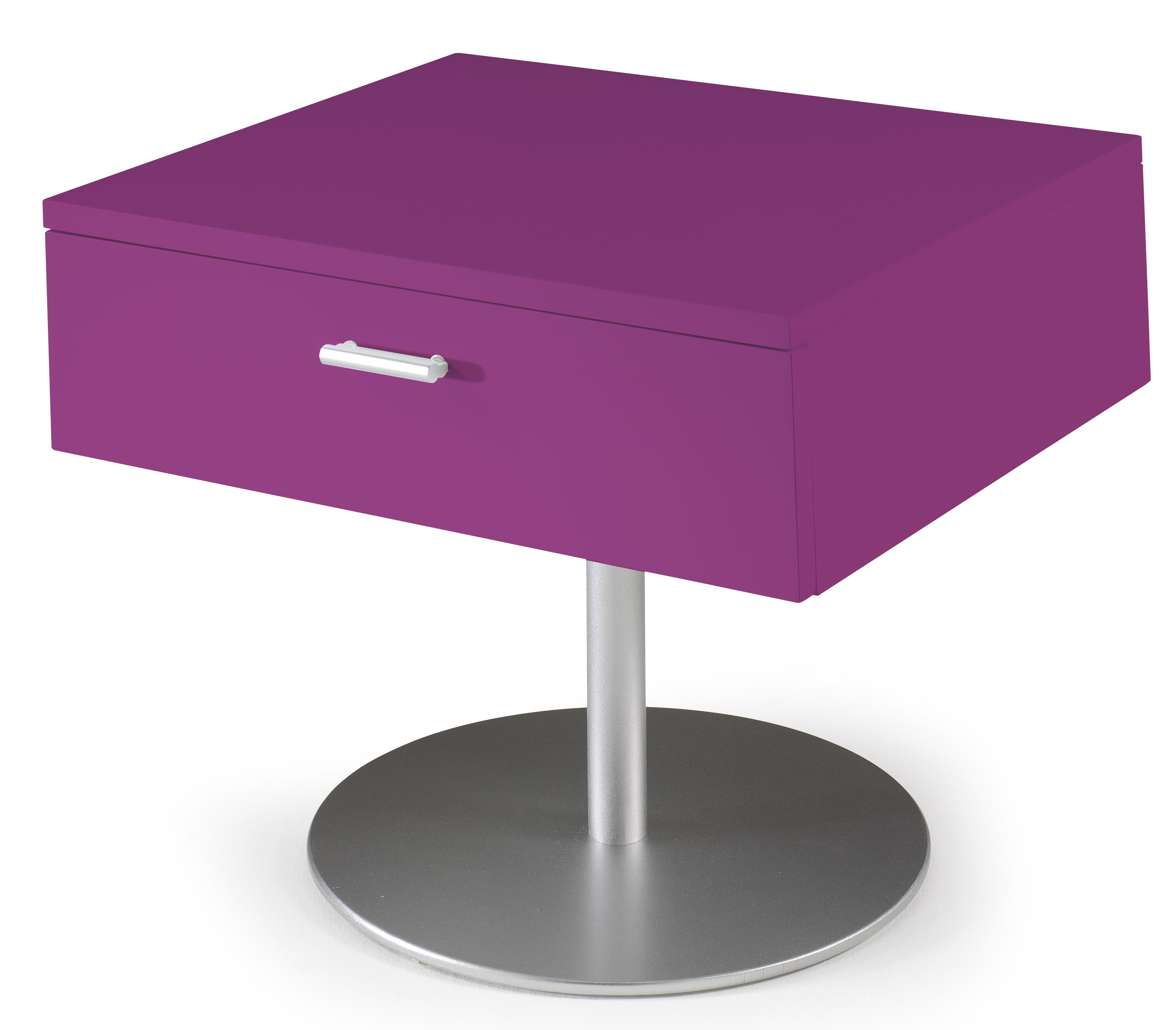 Table de chevet design fuchsia laqu kara for Table th html