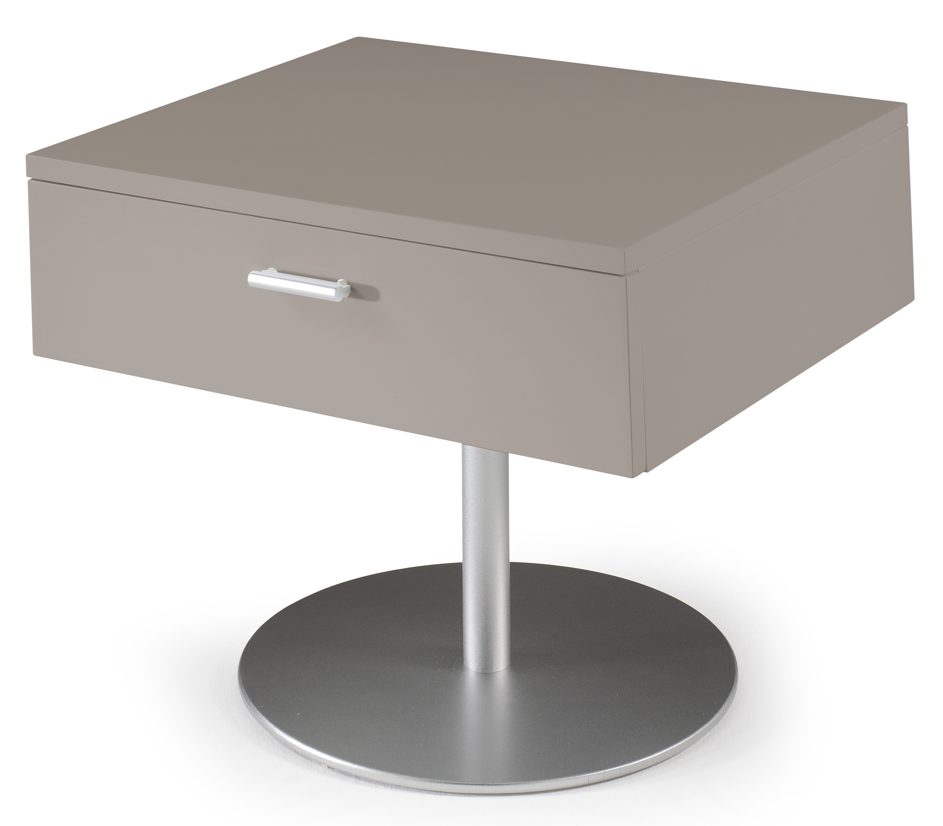 table de chevet design taupe laqu kara lestendancesfr