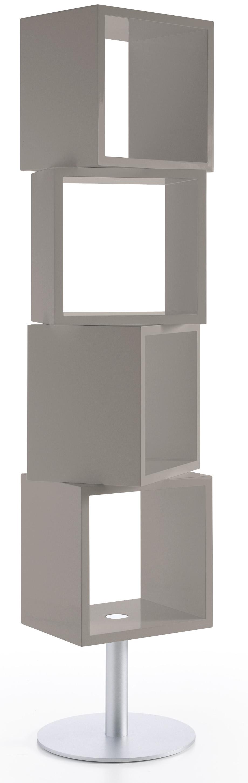 biblioth que laqu e taupe cubique. Black Bedroom Furniture Sets. Home Design Ideas