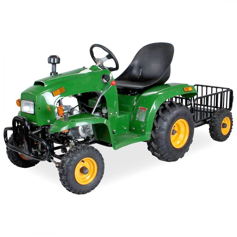 Tracteur enfant 110cc vert avec remorque xtrem - Tracteur remorque enfant ...