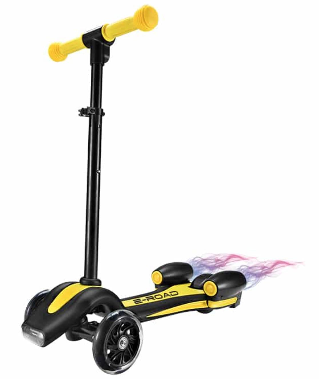trottinette lectrique enfant 3 roues trott jaune. Black Bedroom Furniture Sets. Home Design Ideas