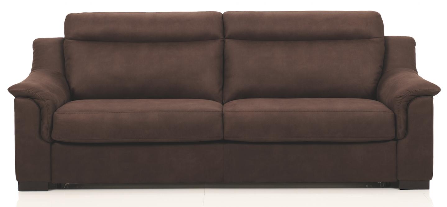 canap convertible cuir marron bultex 14cm helena 140. Black Bedroom Furniture Sets. Home Design Ideas