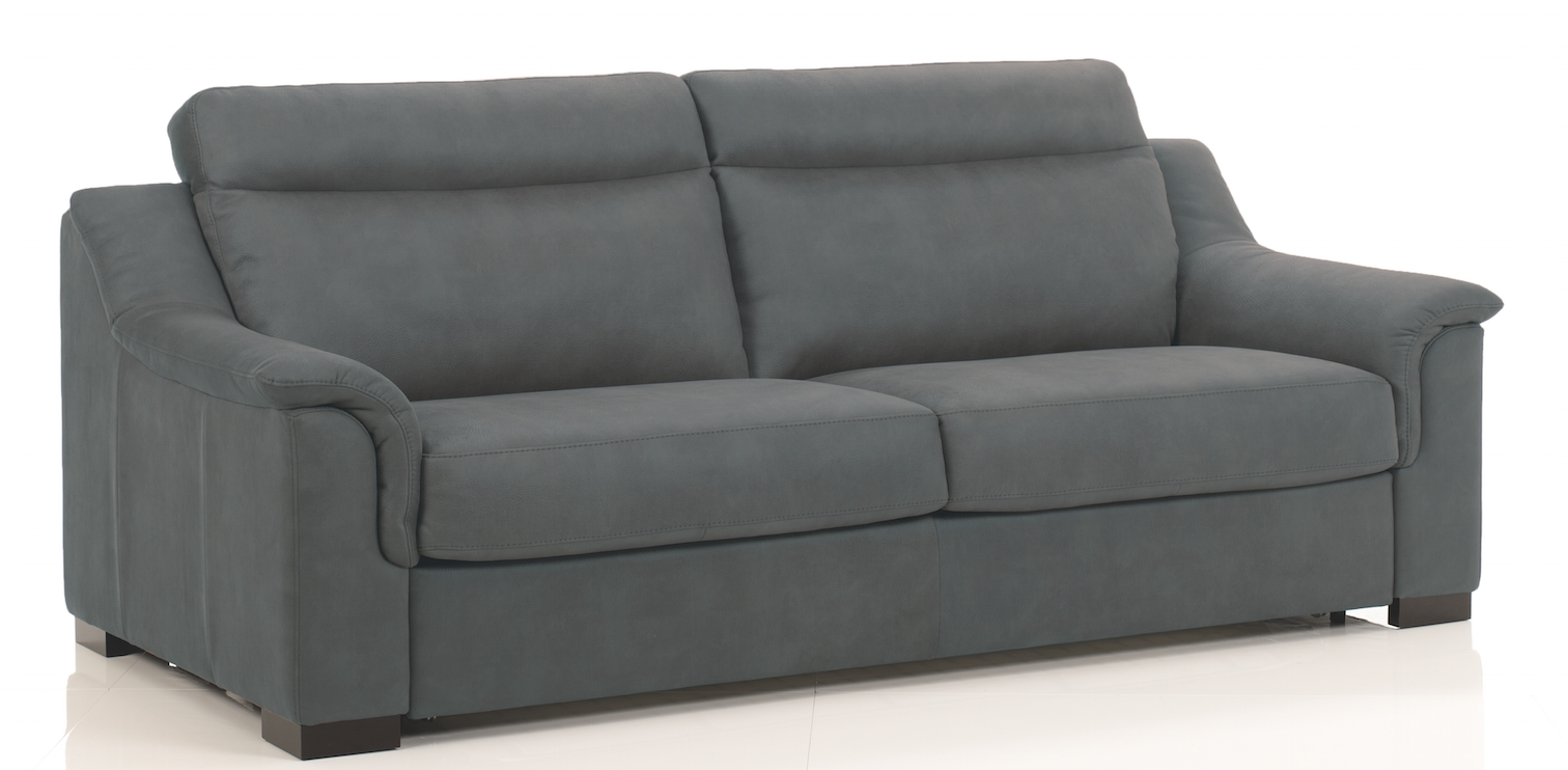 canap convertible bultex rev tement simili gris fonc helena. Black Bedroom Furniture Sets. Home Design Ideas