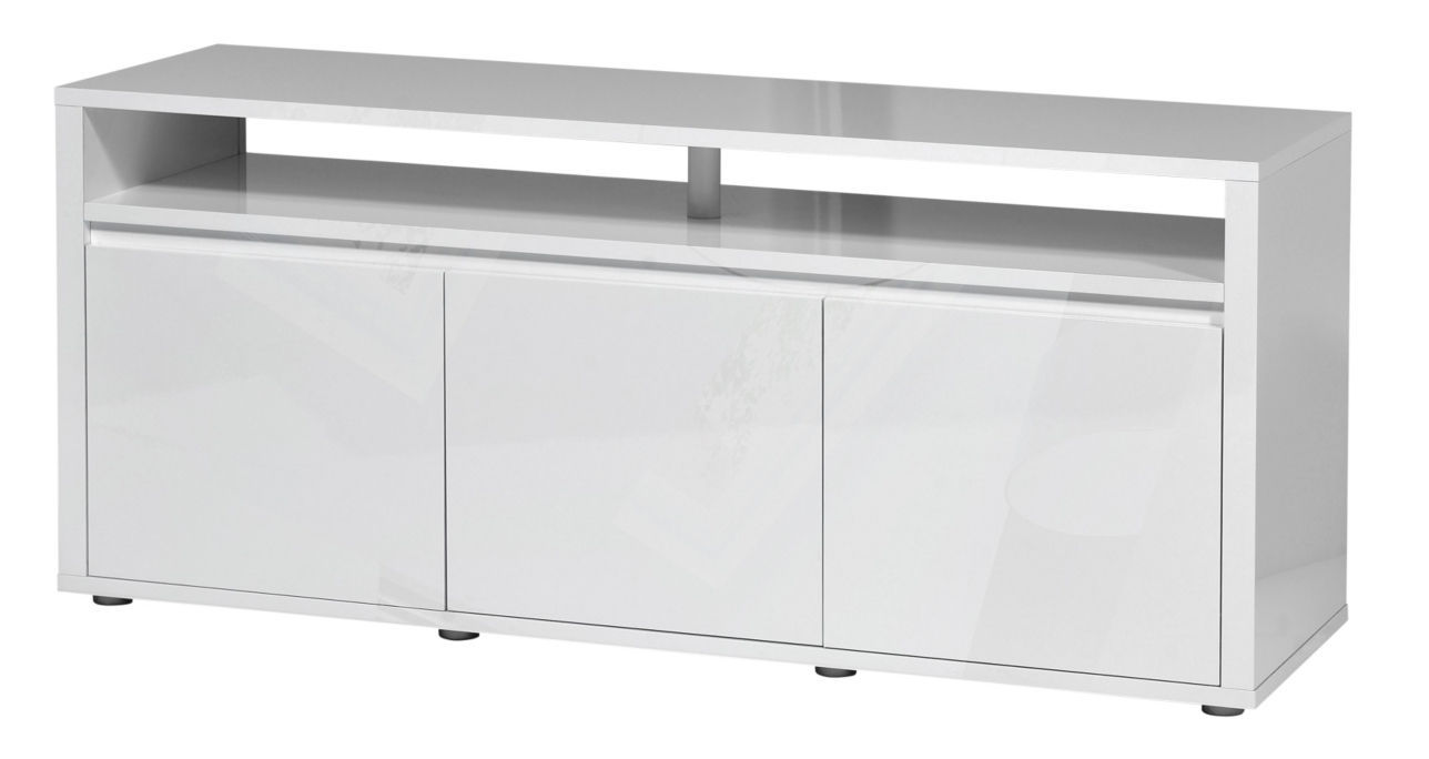 meuble tv laqu banc 3 portes city. Black Bedroom Furniture Sets. Home Design Ideas