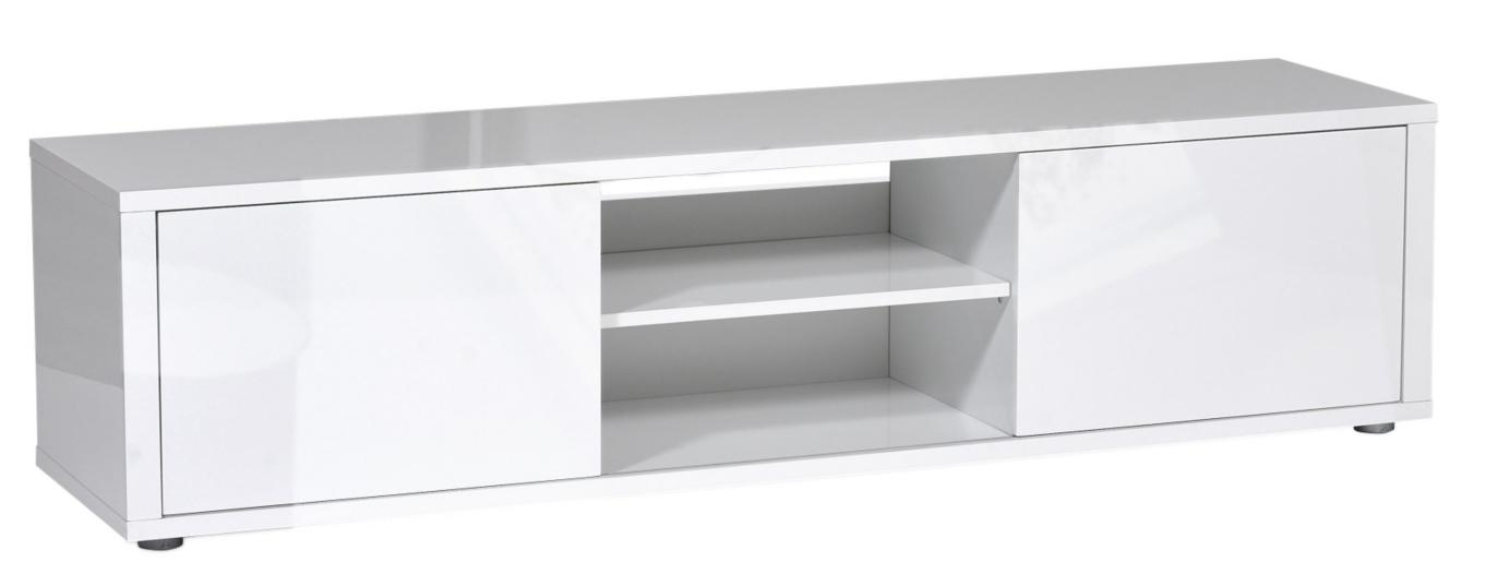 meuble tv laqu blanc 2 portes city. Black Bedroom Furniture Sets. Home Design Ideas