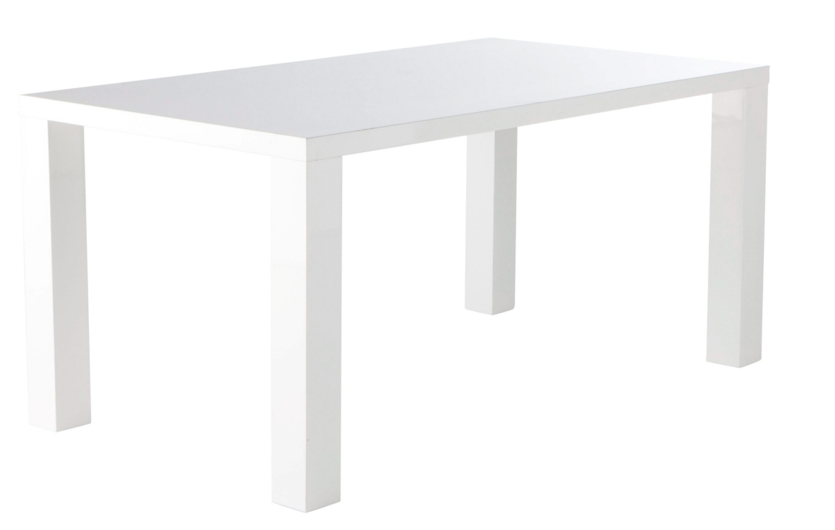Table manger laqu blanc city for Table a manger laque blanc pas cher