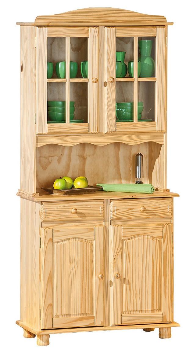 vaisselier 2 portes pin massif naturel tosca. Black Bedroom Furniture Sets. Home Design Ideas
