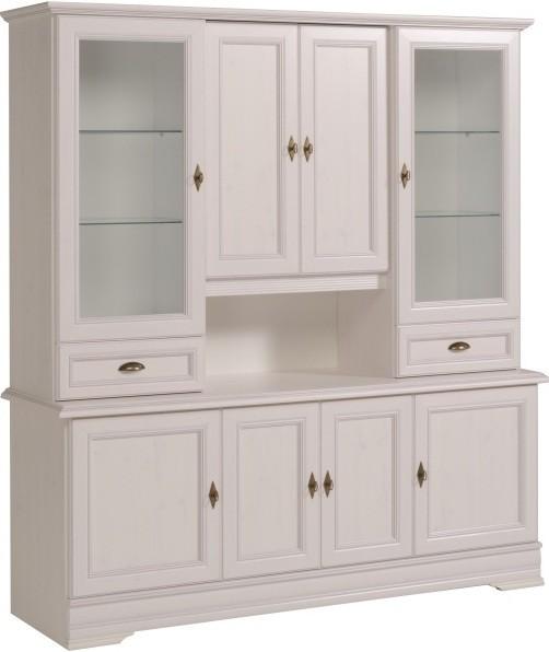 buffet vaisselier blanc elina. Black Bedroom Furniture Sets. Home Design Ideas