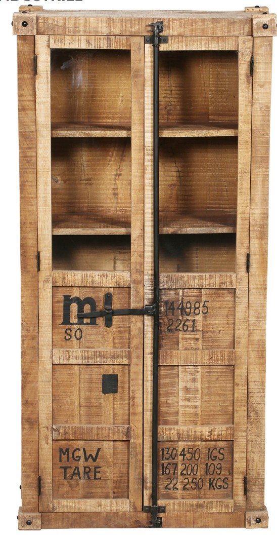 armoire bois de manguier industriel porta. Black Bedroom Furniture Sets. Home Design Ideas