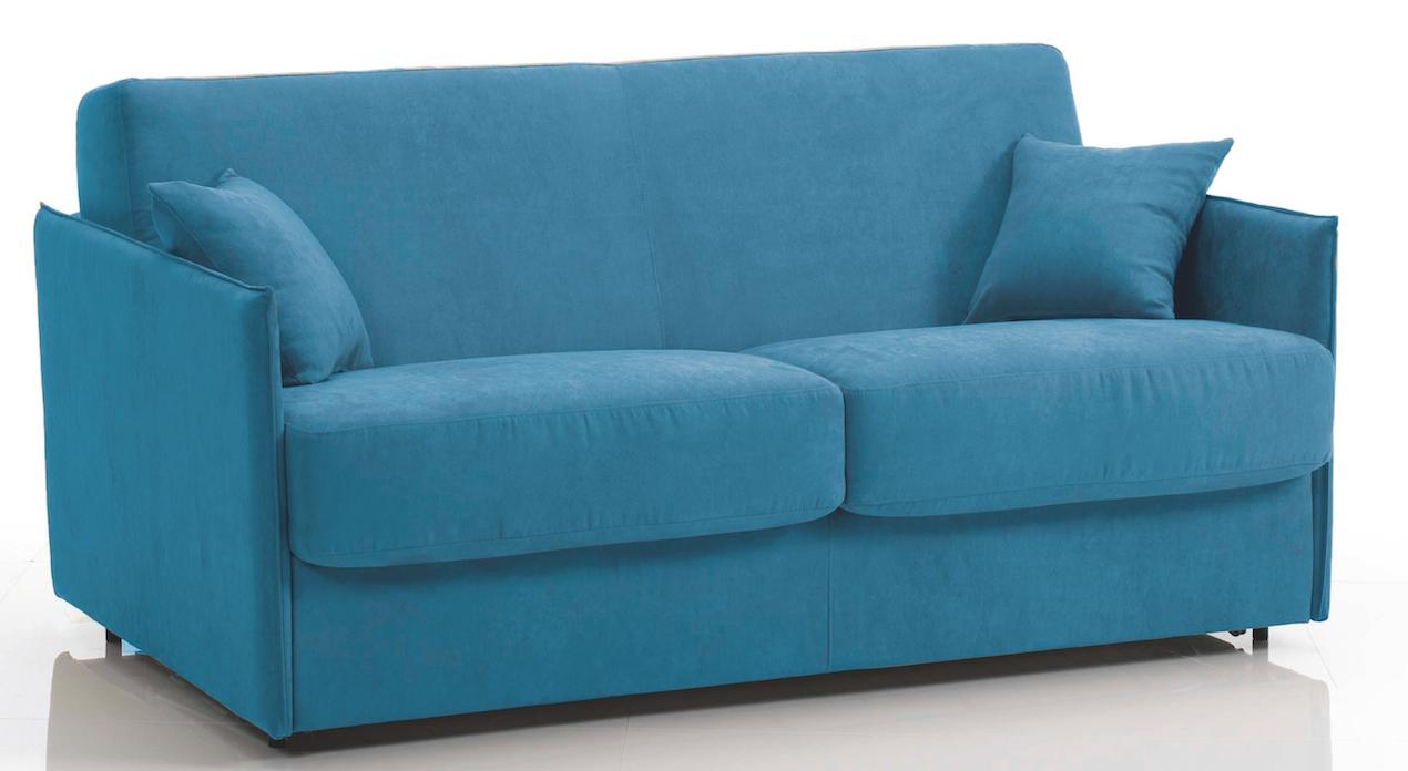 canap convertible bultex 3 places microfibre bleu swelt. Black Bedroom Furniture Sets. Home Design Ideas