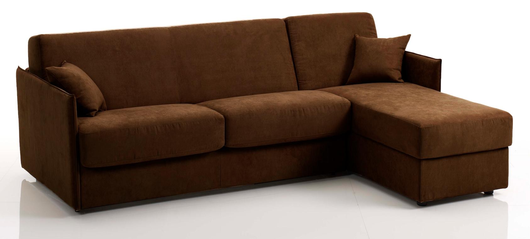 canap d 39 angle convertible bultex tissu marron swelt. Black Bedroom Furniture Sets. Home Design Ideas