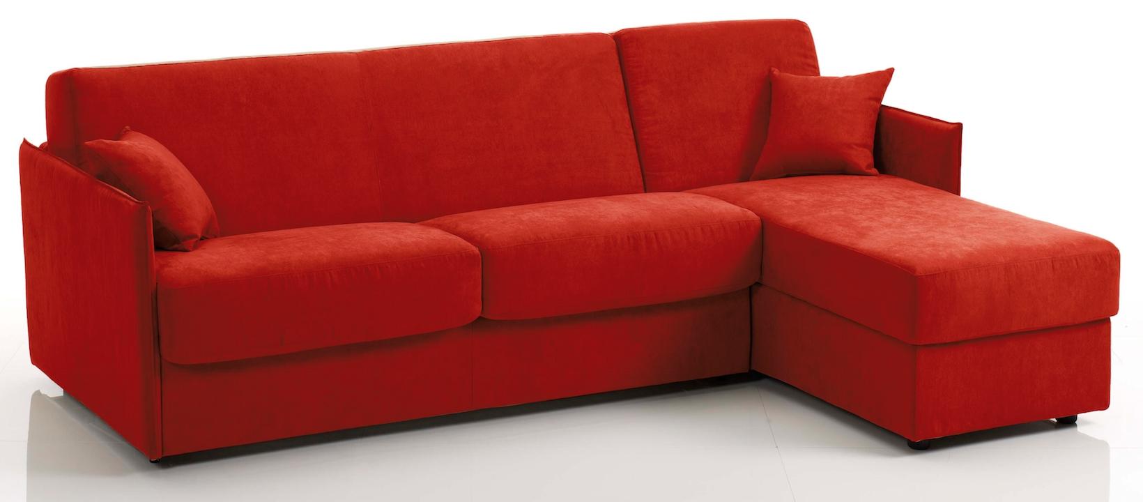 canap d 39 angle convertible bultex tissu rouge swelt. Black Bedroom Furniture Sets. Home Design Ideas
