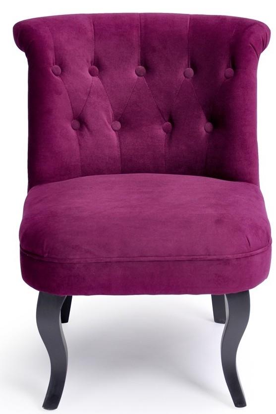 fauteuil romantique velours aubergine. Black Bedroom Furniture Sets. Home Design Ideas