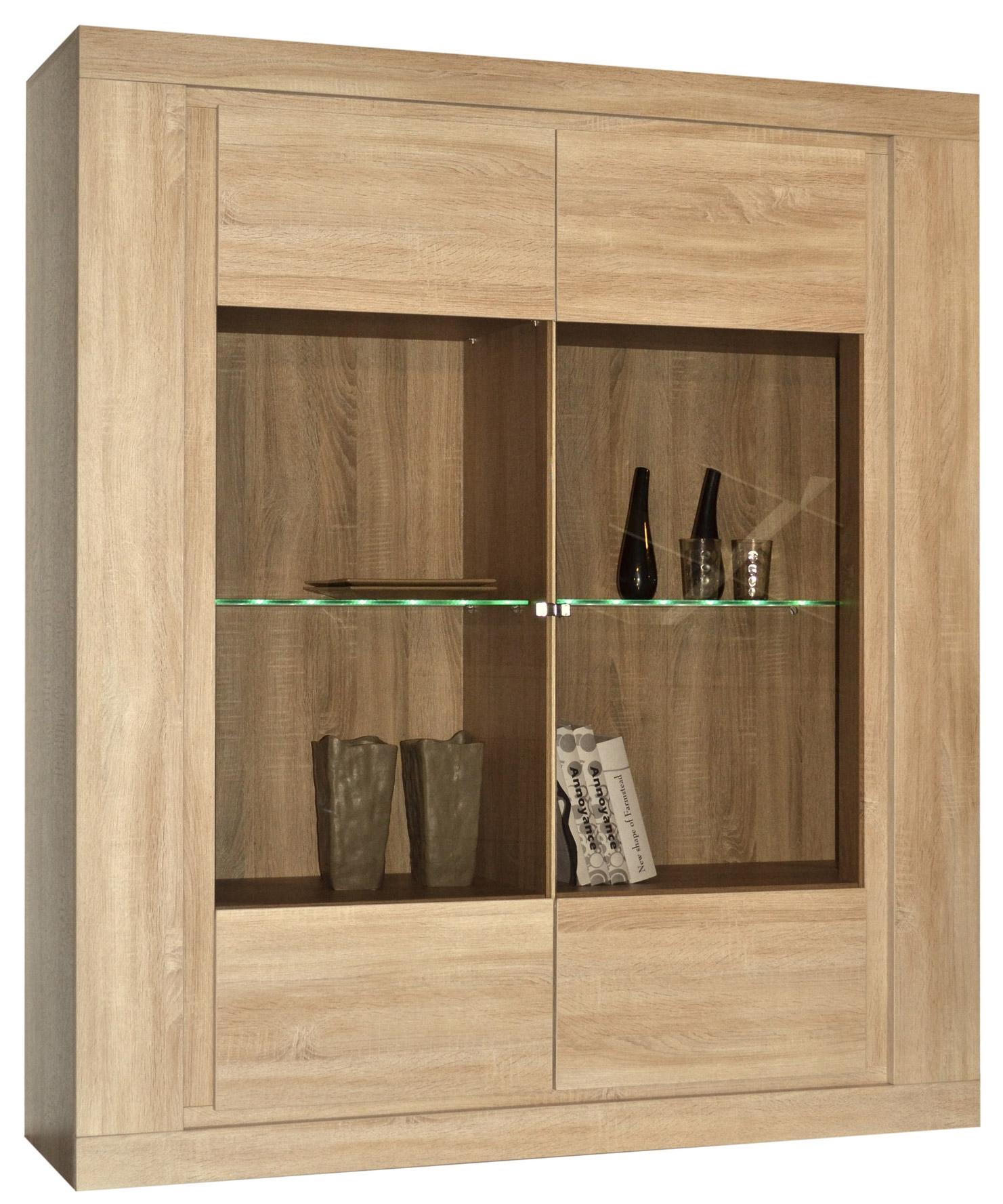 Vitrine ch ne avec clairage leds season - Model vitrine en bois ...