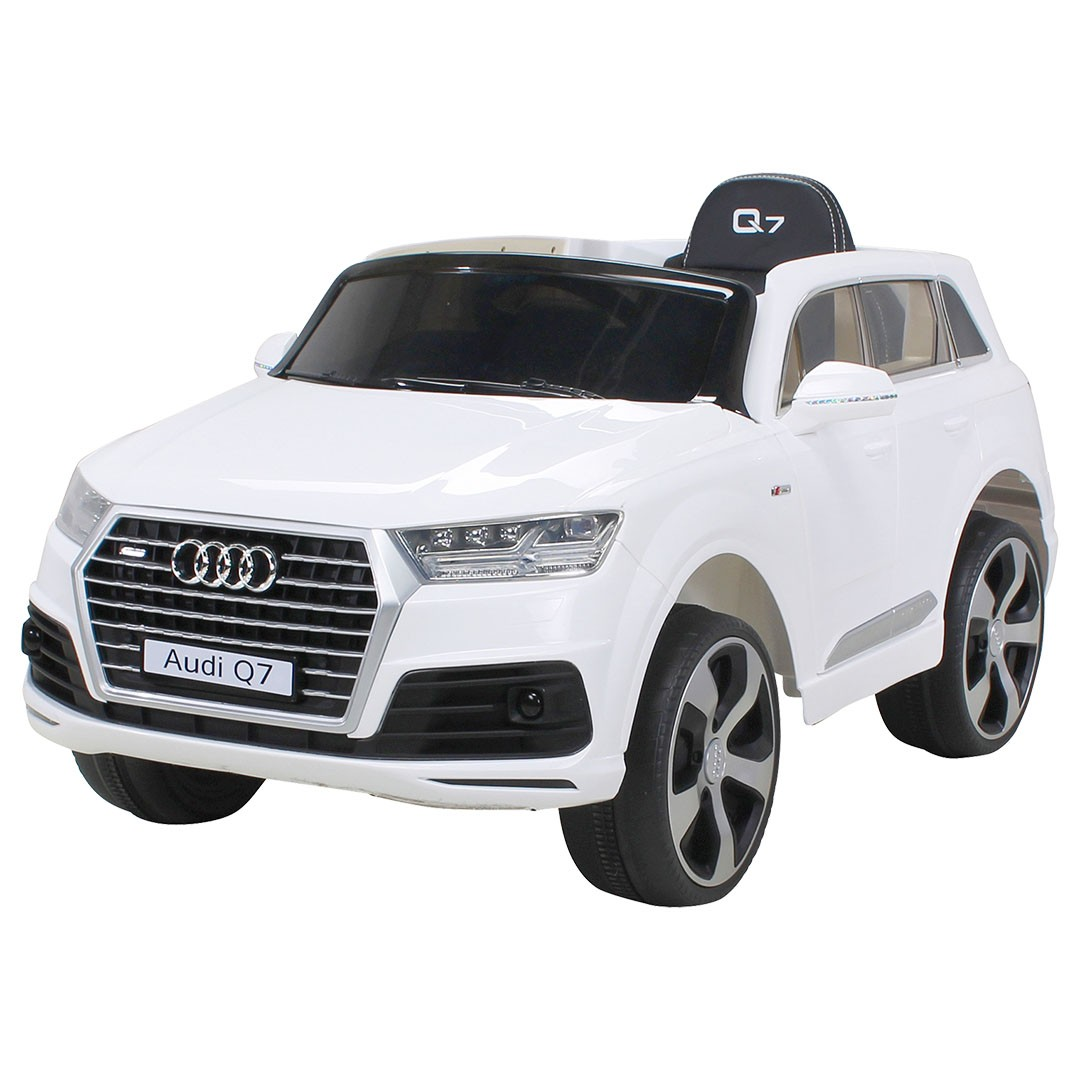 voiture lectrique audi q7 blanc 2x35w 12v. Black Bedroom Furniture Sets. Home Design Ideas