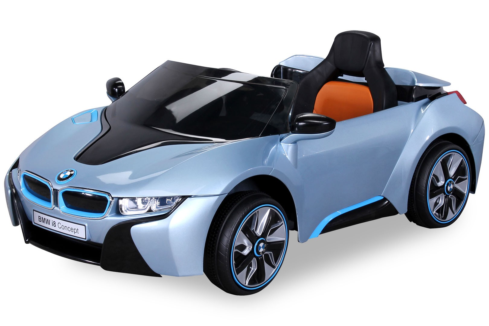 voiture lectrique bmw i8 bleu. Black Bedroom Furniture Sets. Home Design Ideas