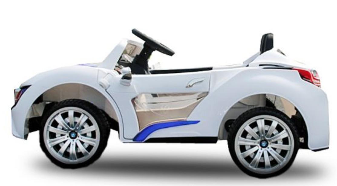 voiture lectrique bmx sport blanc 2x30w 12v. Black Bedroom Furniture Sets. Home Design Ideas